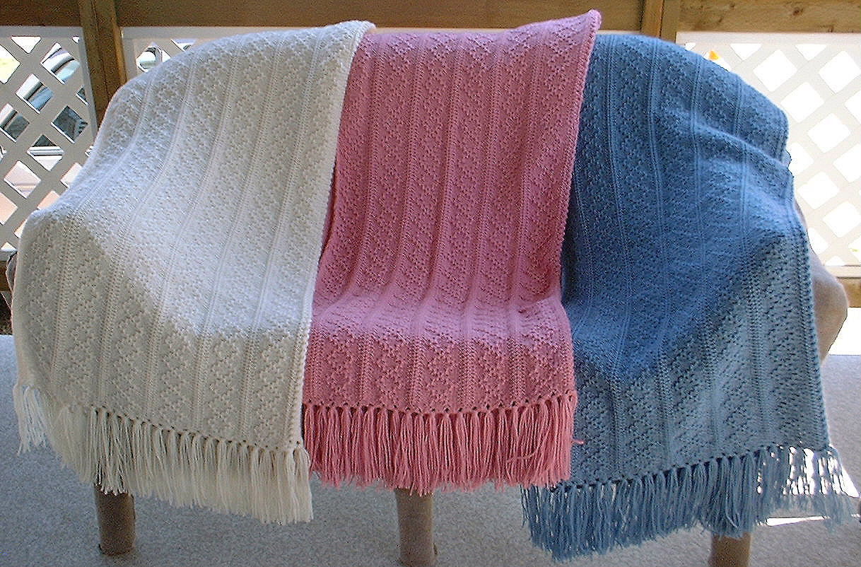 Machine Knitting Pattern Baby Blanket - Cashmere Sweater England
